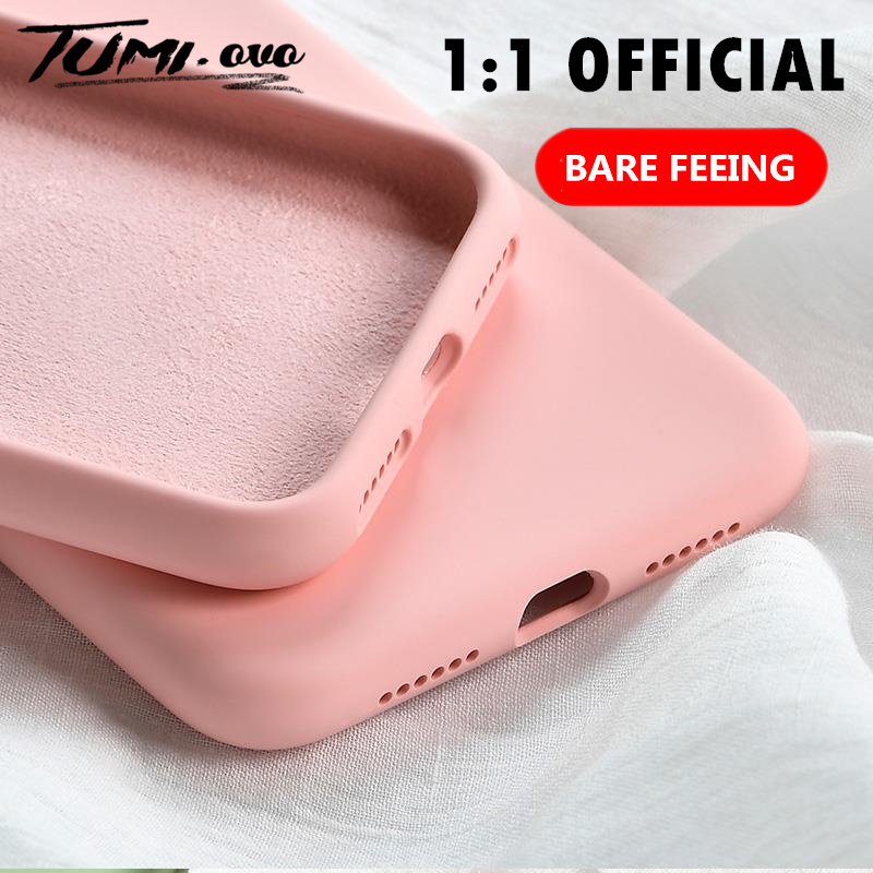 Galleria fotografica Original Soft Summer Liquid Silicone Case for iPhone X XR XS Max 8 7 6 6S Plus Gel Rubber Shockproof Cover Full Protective Cases
