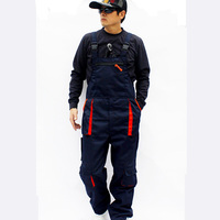 Hot Men loose plus size casual Siamese trousers bib pants Male overalls wear resistant work uniforms trousers High quality S 4XL
