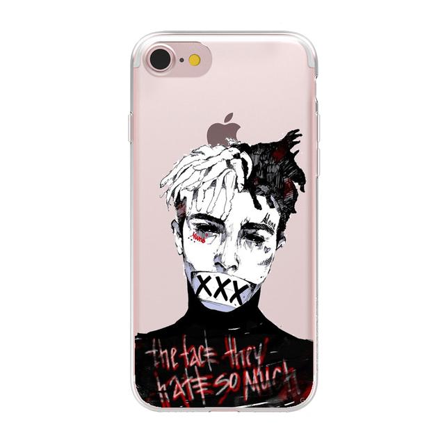 HryCase Matte Hard Plastic Xxxtentacion Case Cover For Apple iPhone 8 7 X 6 Plus 5 5S SE XS Max XR Transparent Phone Cases