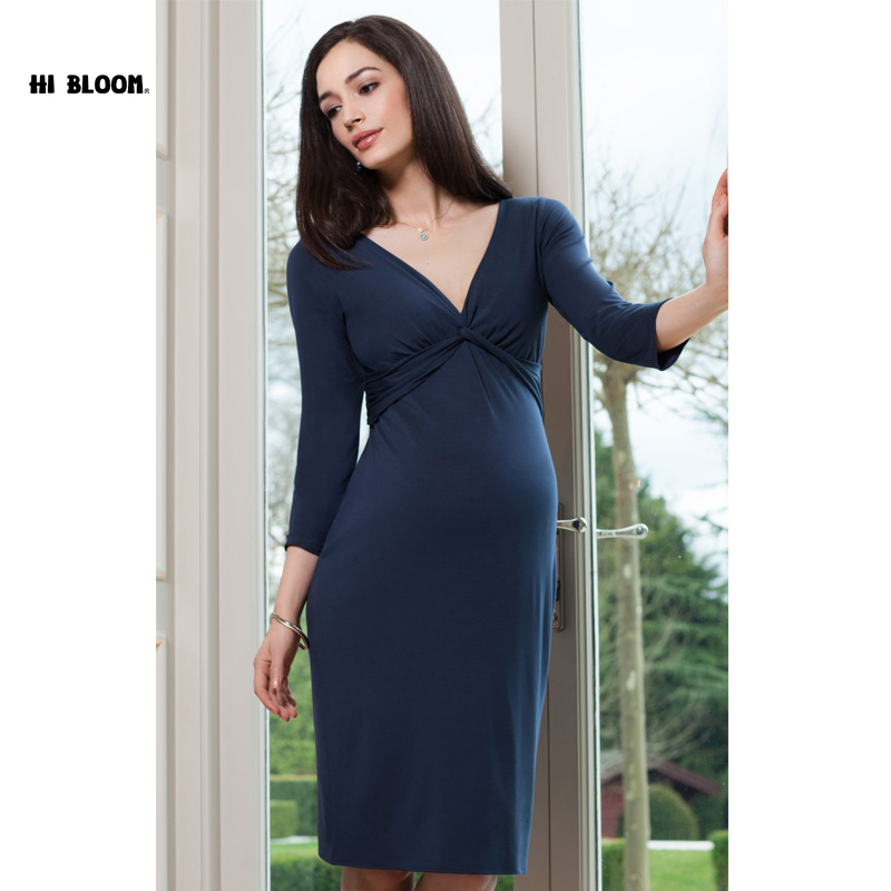 Happy Lovely Spring Pregnant Women Evening Party Dress Elegant Office Lady Vestidos Maternity Clothes Plus Size Maternity Dress happy easter stripped pregnant women party sashes dress elegant office lady vestidos maternity clothes plus size maternity dress
