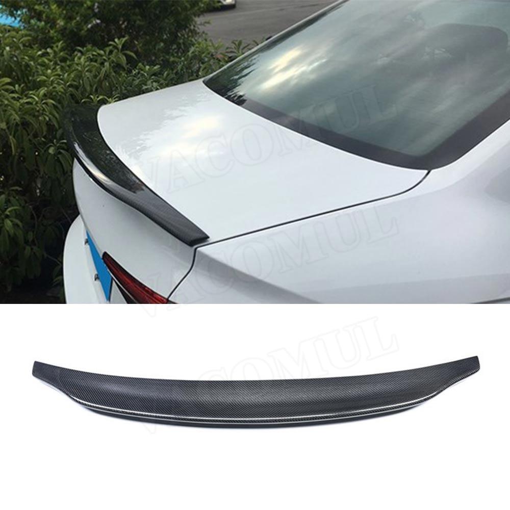 For A4 Carbon Fiber Rear Spoiler Boot Duck Wings for Audi A4 B8 B9 Sedan 2009 2018 C Style Car Sticker