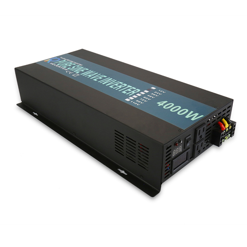 Solar <font><b>Inverter</b></font> <font><b>12V</b></font> to 220V <font><b>4000W</b></font> Pure Sine Wave Power <font><b>Inverter</b></font> Solar Panel Battery Converter 24V/36V/48V DC to 120V/230V/240V AC image