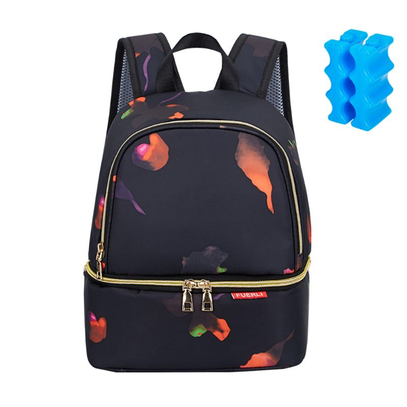 Insulated Breastmilk Cooler Bag Breast Case Waterproof Double Layer Bottle Lunch Tote Diaper Bag Backpack With Empty Ice Bottles