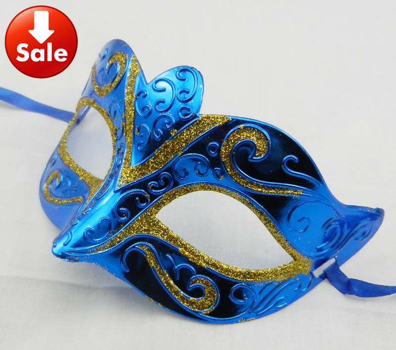 Masquerade Masks Decorations Ideas: On Sale Gold Shining Sexy Party Mask Venetian Masquerade