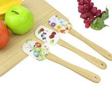 Herramientas de la hornada de la cocina herramientas de cocina diy de la hornada de gel de sílice mango de madera hd pastel de crema raspador kb02