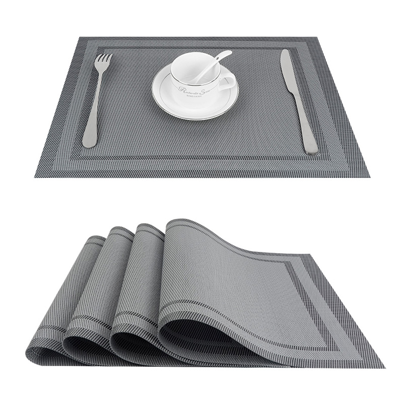 Set Of 4 Pvc Vinyl Placemats For Dining Table Runner