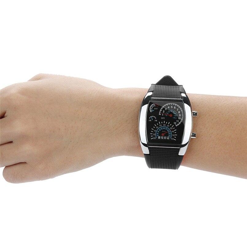 Otoky Männer Watchesmen Fashion Led-licht-turbo Tacho Sport Auto Dial Meter Uhr Uhren Dropshipingsep14 Herrenuhren Uhren