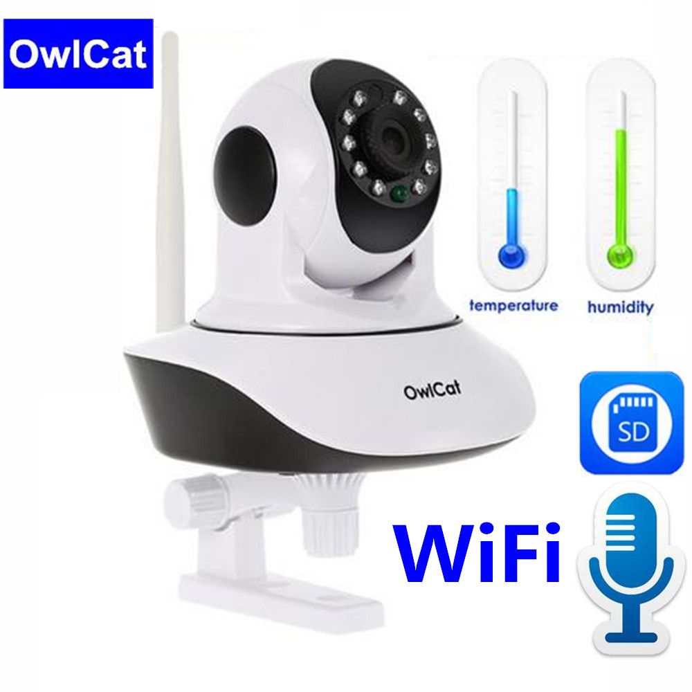 OwlCat HD 1080P Home Security IP Camera Two Way Audio Wireless 2MP Night Vision Dome P2P CCTV Network WiFi Camera Baby Monitor