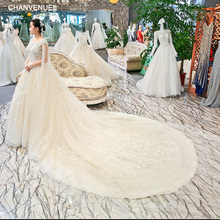 CHANVENUEL wedding dress ball gown cathedral train