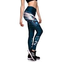 Hot Sale Da Moda Impresso Fino Respirável Mulheres Leggings Esportivos Plus Size Aptidão Cintura Alta Elastic Feminino Calças Calças Sexy