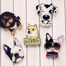 1 Pccharm Pet Dogs Pendant Badge Decorated Pins Cartoon Cute Brooches Handbags Act Role Of Men And Women Gift Cute Brooch(China)