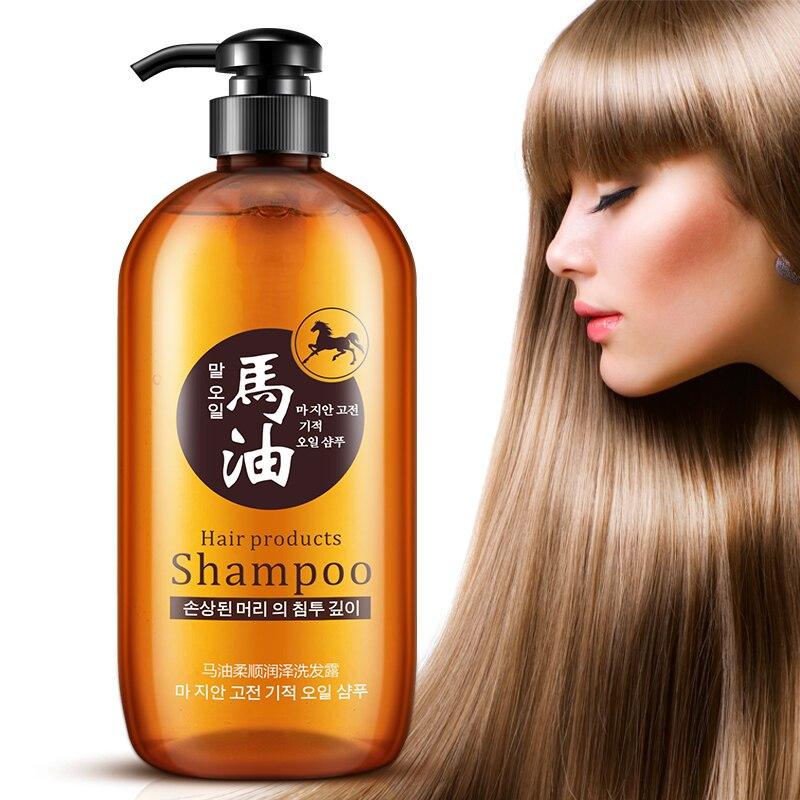 300ml Professional Hair Care Produkt Pferd Öl Ohne Silikon Öl Control Nähren Anti Haarausfall Shampoo Verbessern Frizz