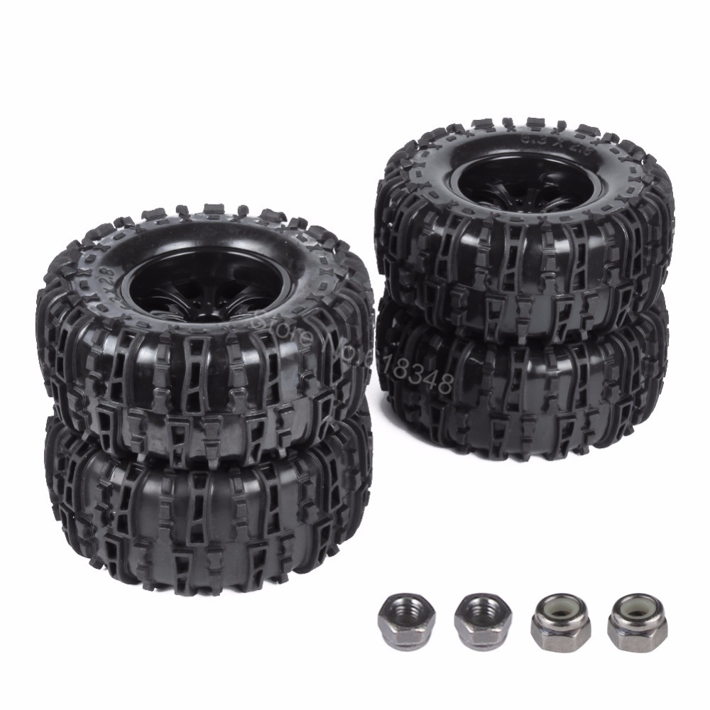 Buy Online 4Pcs 155mm RC Tires Wheel Rims Foam Inserts For 1