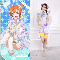 New Arrival Japanese Anime Love Live Cosplay Rin Hoshizora Halloween Costumes For Woman Angel Wing Lolita