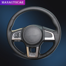 Car Braid On The Steering Wheel Cover for Subaru Legacy 2016 Outback 2015 2016 XV 2016 Forester 2016 Interior Auto Wheel Covers
