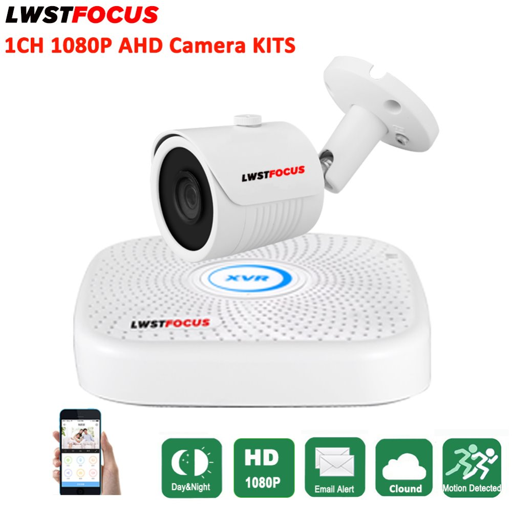 LWSTFOCUS 4CH Security Camera System 1080N AHD DVR Kit Hybrid 1PCS HD 1080P CCTV Outdoor Waterproof Bullet Surveillance Camera home security systm 1080p ahd cctv camera kit 4 channel ahd dvr 4pcs outdoor ir night 2 0mp full hd camera ahd surveillance kit