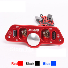 F08028 Brand Heavy Duty Metal Dual Power Switch with Fuel Dot Red for RC Helicopter Car Boat Aircraft Engine Part