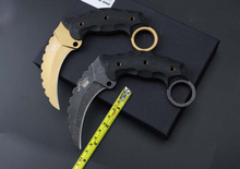 2 Options! AUS-8 Blade G10 Handle The One Karambit Small Fixed Knives, Camping Tactical Knife,Survival Knife.