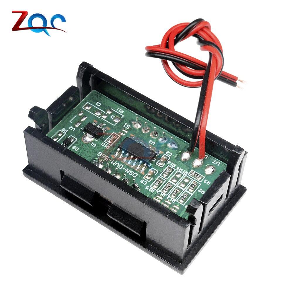 HTB1MlQ5XznuK1RkSmFPq6AuzFXaW 0.56 inch Mini Digital Voltmeter Ammeter DC 100V 10A Panel Amp Volt Voltage Current Meter Tester Blue Red Dual LED Display