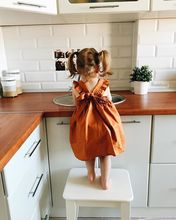 Pumpkin Color Vest Dress