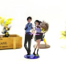 Miłość dziękuję twoje imię KIMI NO NAWA Tachibana Taki miyamizu mitsuha akrylowy stojak model figurki stojak na talerze ozdoba na wierzch tortu anime