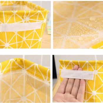 DIY Desktop Storage Basket Sundries Underwear Toy Box Cosmetic Book Organizer Stationery Container Laundry 4