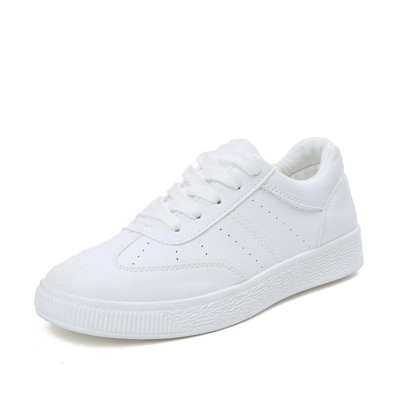 Prix pour Femmes Hommes Planche À Roulettes Chaussures PU En Cuir En Plein Air Toile Sneaker Femmes Hommes Sport Originaux Blanc Noir Chaussures Respirant Chaussures