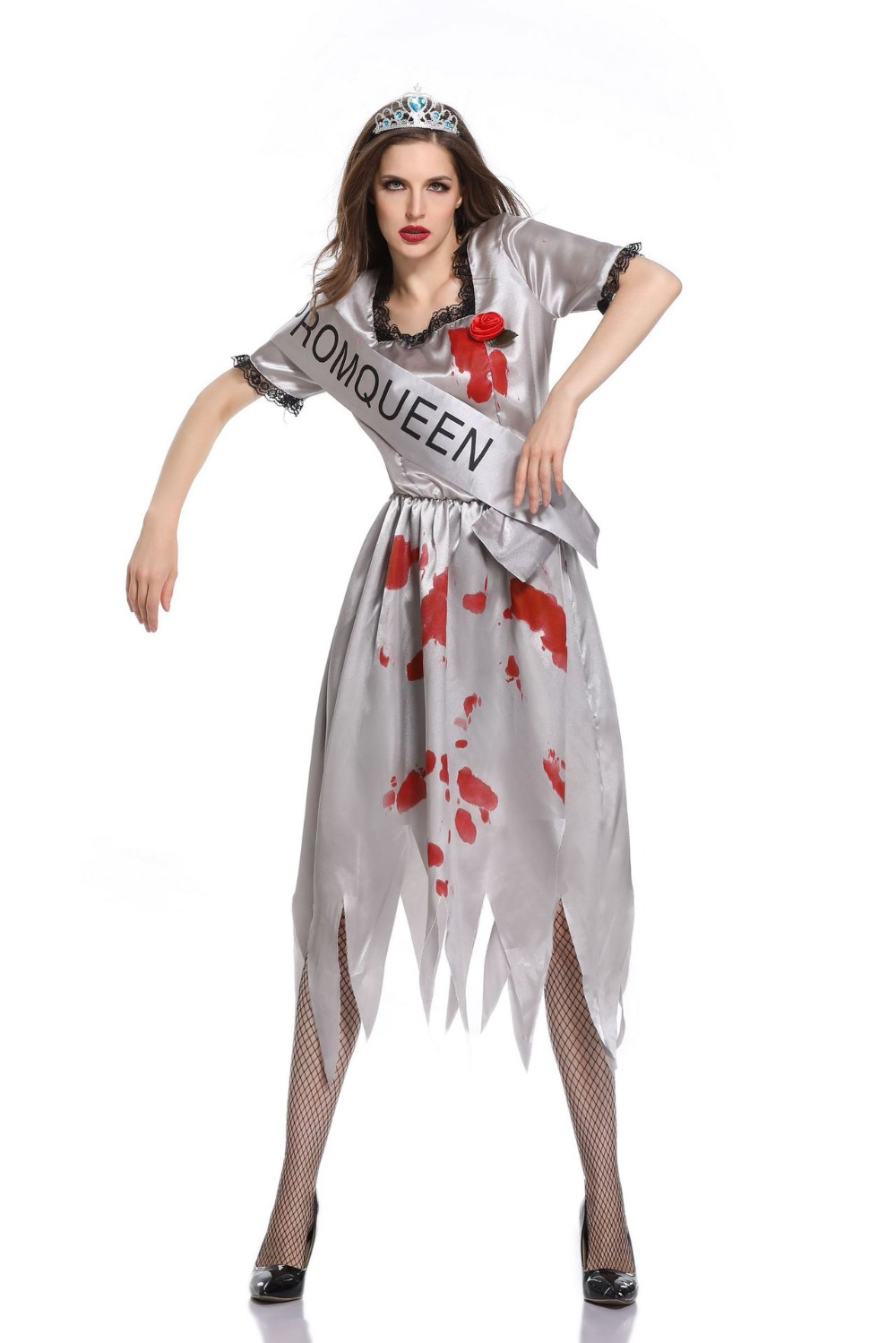 New Scary Costume White Corpse Devil costume Vampire Bloody Cospaly Costume Dress For Haloween ...