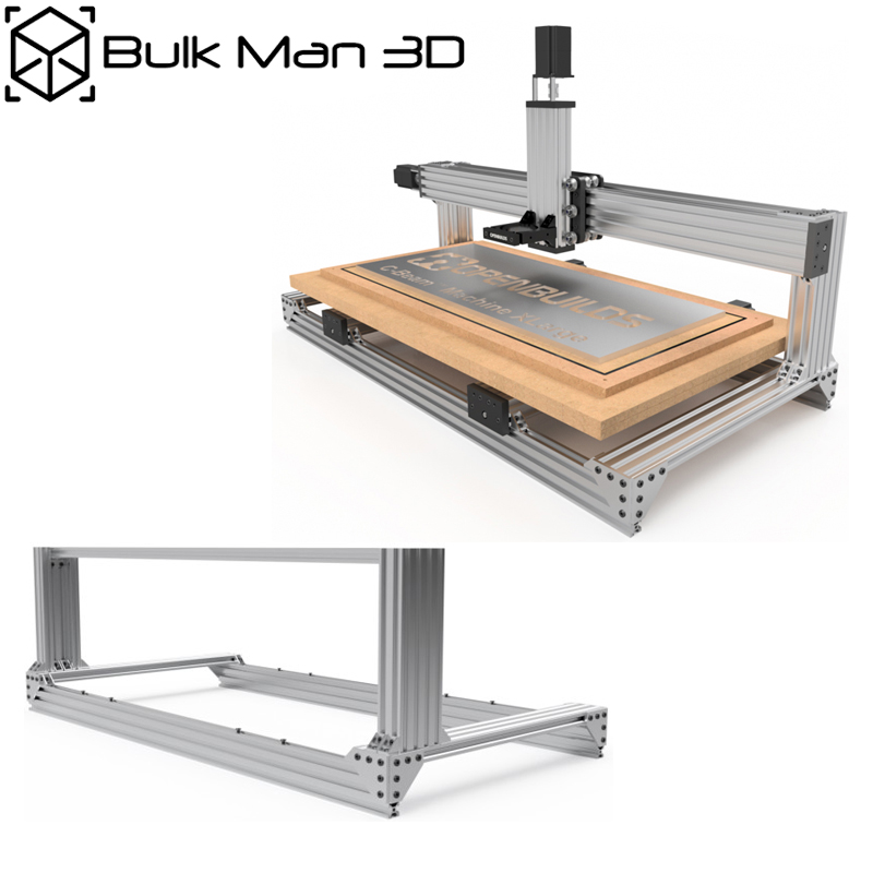 Free Shipping 4Axis C-Beam Machine CNC XL Kit DIY C-Beam Machine Large Bundle Kit With High Torque 2.45N.m Nema23 Stepper Motors
