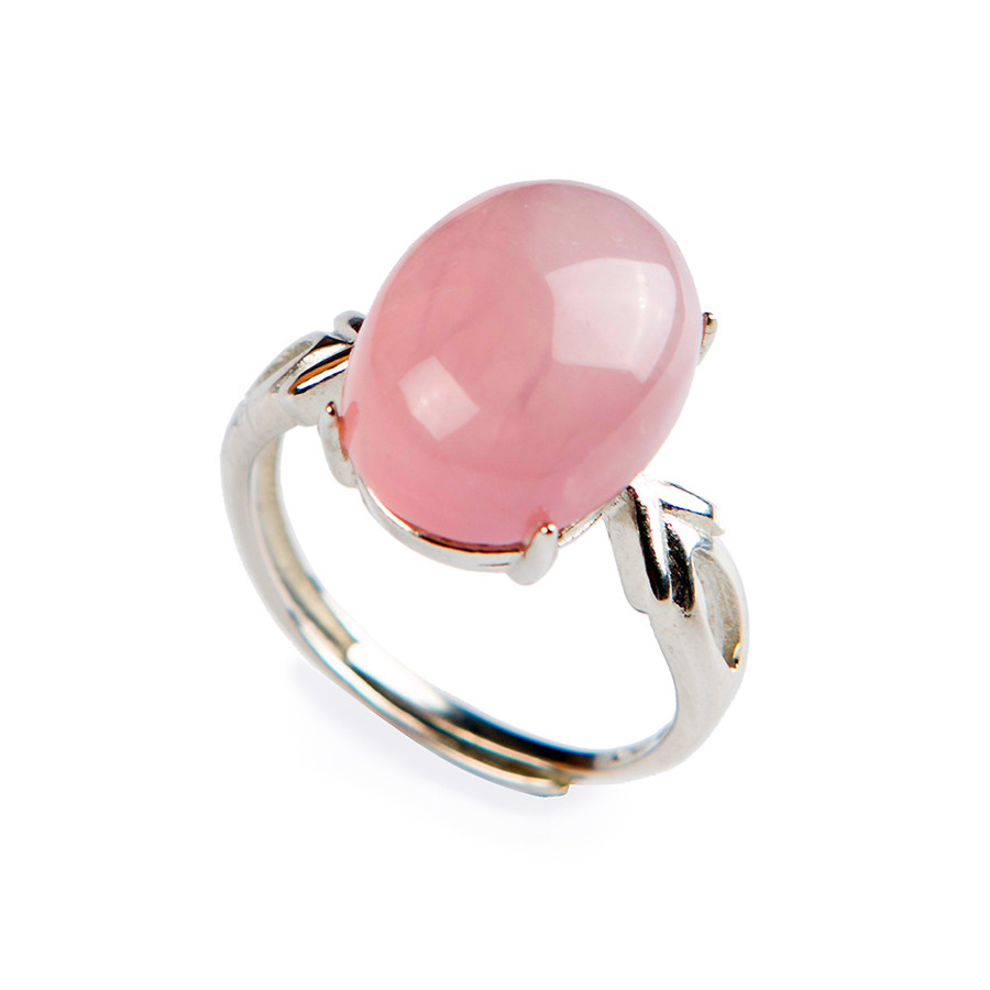Buy rose quartz rings love and get free shipping on AliExpress.com