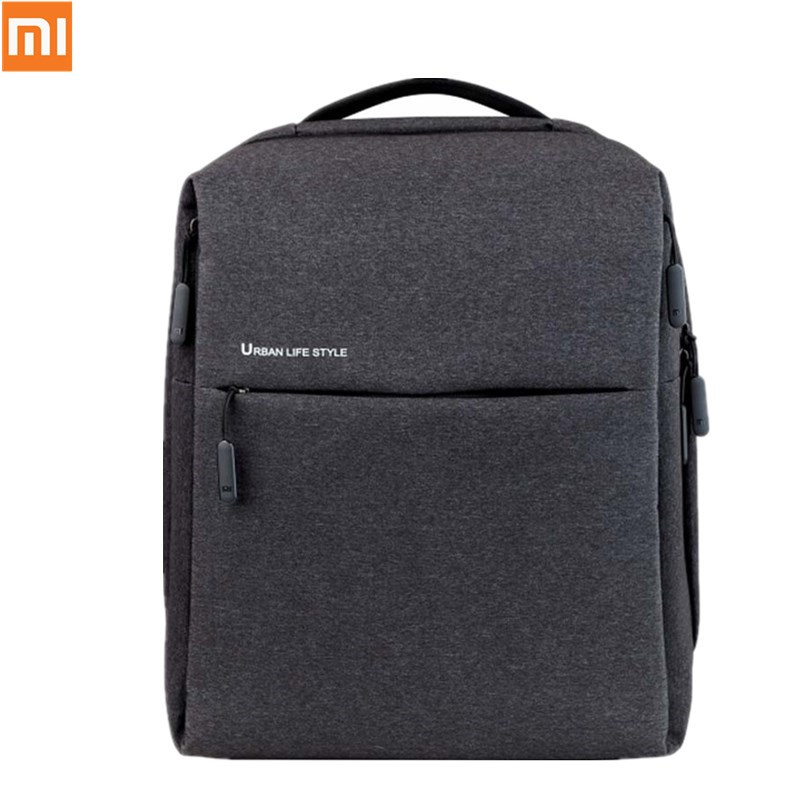 Original xiaomi Minimalist Backpack Businessbag Urban Life Style Polyester Simple Schoolbag laptop bag for business Man/Women рюкзак xiaomi simple urban life style backpack grey