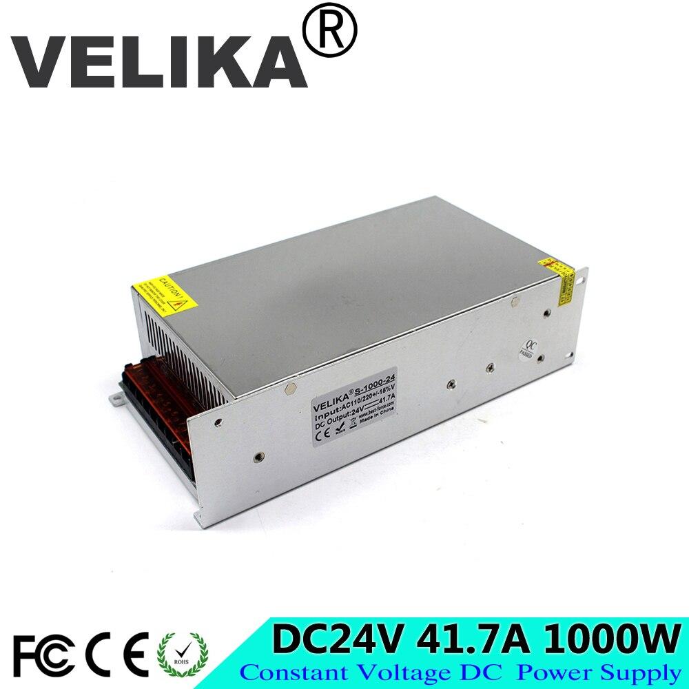 Regulated Adjustable Power Supply DC 24v 41 7a 1000W Led Driver Transformers AC110V 220V TO DC24V