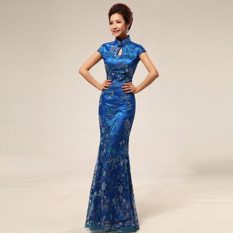 Qipao Long Plus Size Chinese Dress Cheongsam Wedding