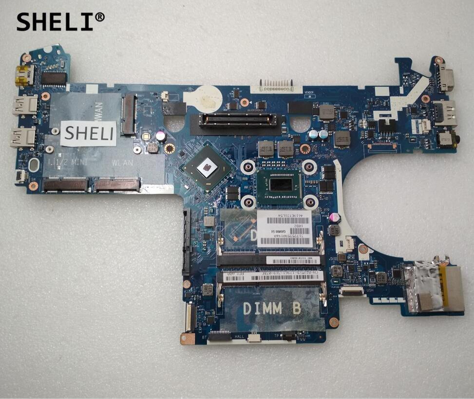 SHELI For Dell  E6230 Laptop Motherboard CN-01V5YD 01V5YD 1V5YD HM77 QAM00 LA-7731 Integrated Graphics W/ I5-3340M CPU