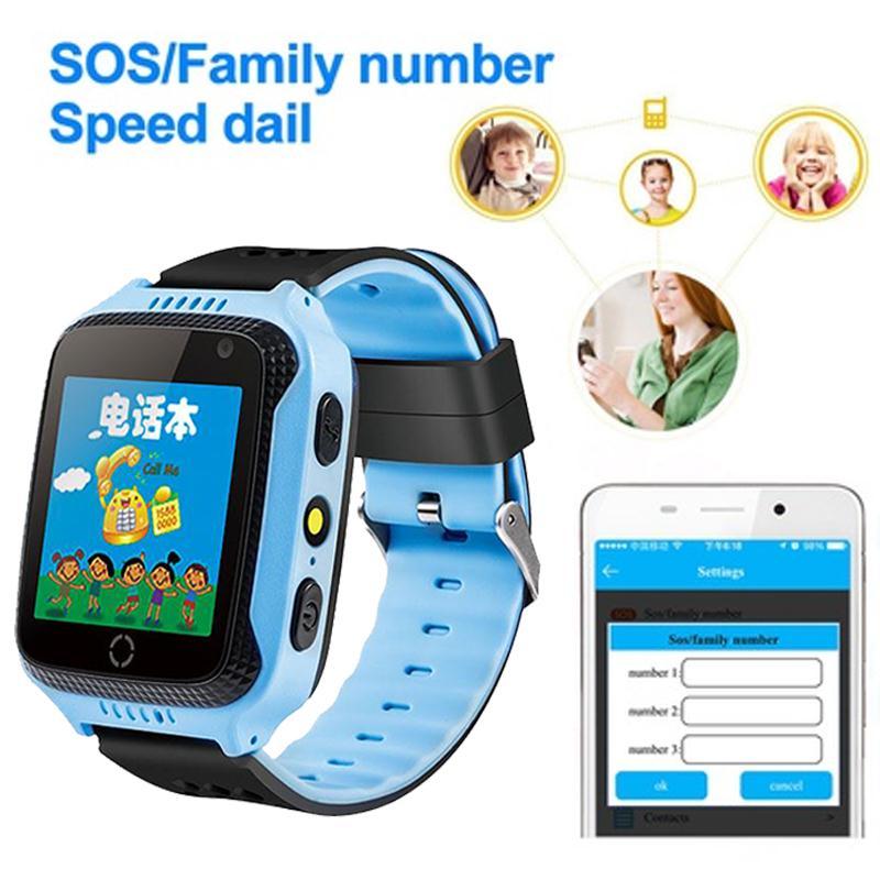 Seedforce Для детей GPS Смарт-часы sim-вызов наручные gsm GPS трекер анти-потерянный SmartWatch