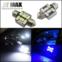 2pcs High Power 31mm 6-SMD LED Festoon Cars Bulbs For Dome Map Door Lights Interior Replace Light Source DE3175 DE3022 6428