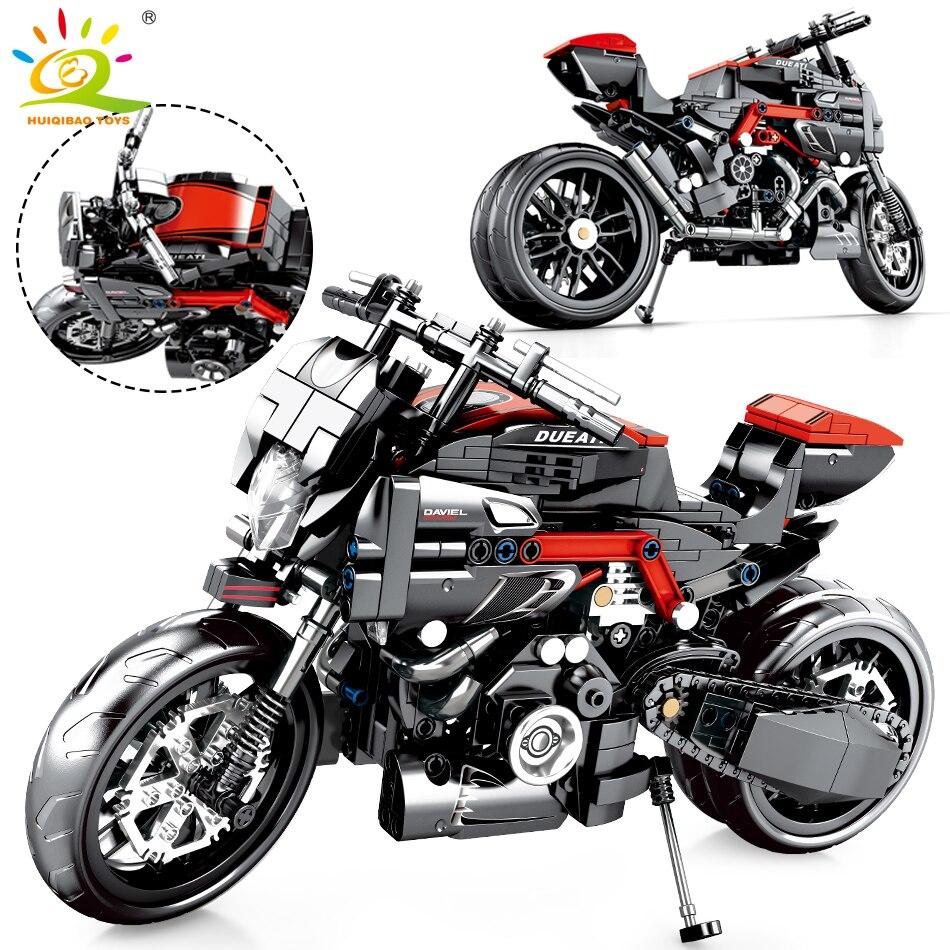 702 pièces Technic course moto blocs de construction compatible vitesse véhicule briques éducatifs bricolage jouets pour enfants garçon