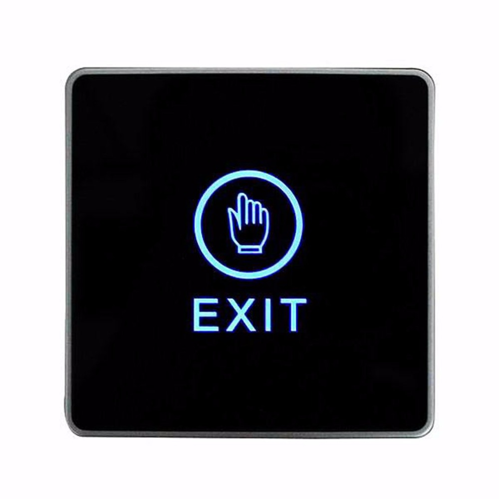 LESHP Eixt Release Button Push Touch Exit Button Door For Access Control System For Home Security Protection With LED Indicator