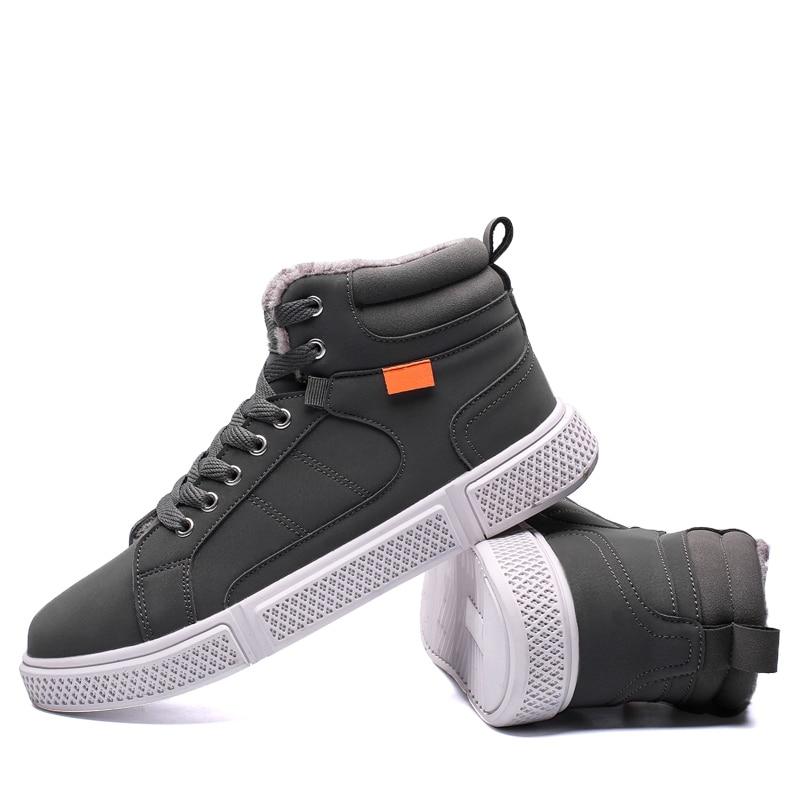 45 Hiver Taille gris Chaussures Cheville Hommes 39 Bottes ~ Grande Top High Casual Automne Étanche Chaud Mode Noir nvFZTtxqx