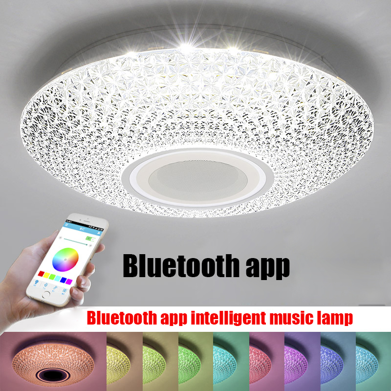 New RGBW Music LED ceiling Light with Bluetooth & Remote control Color Changing Lighting led ceiling lamp for Romantic party 30cm color changing remote control party pool magic waterproof rgb night lighting lamp globe