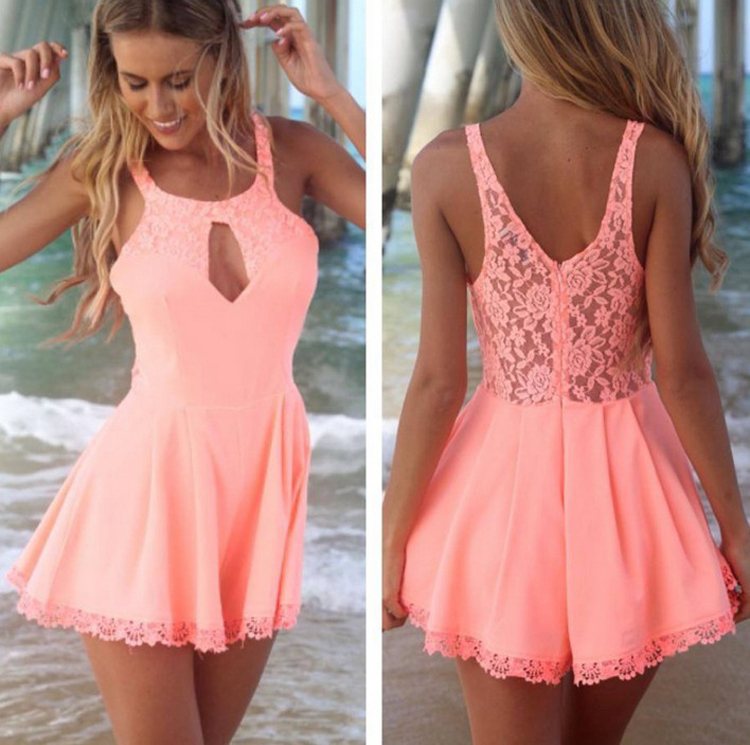Images of Pink Backless Dress - Reikian