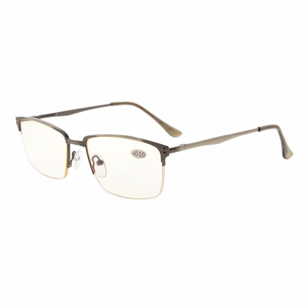 CG15048 Eyekepper Quality Spring Hinges Brushed Metal Frame Half-rim Computer Reading Glasses Computer Eyeglasses Rx-able