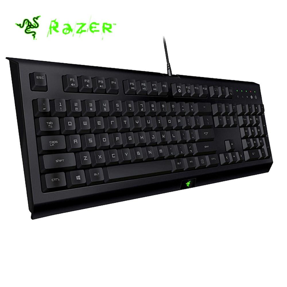 лучшая цена Razer Cynosa Wired Membrane Gaming Keyboard No Backlight 104 Keys Macro Recording Programmable Keys Splash-proof Gaming Keyboard