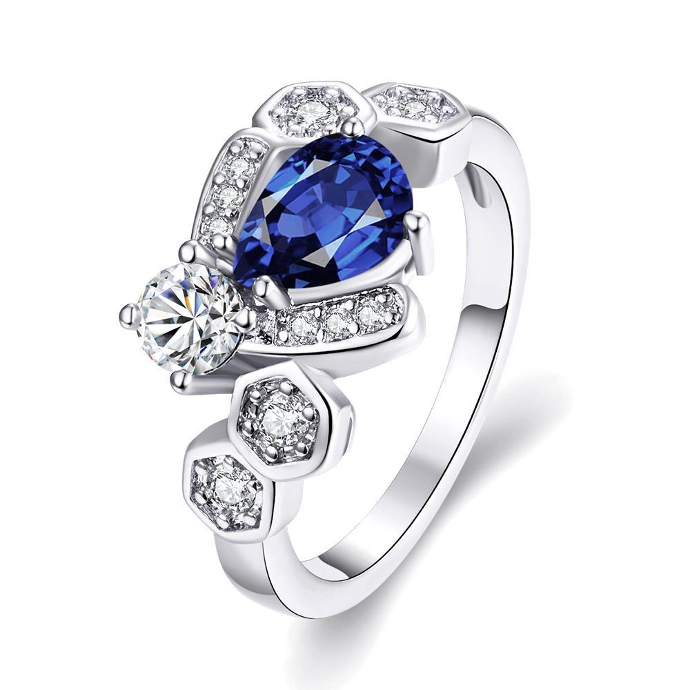 R280-C-8 High Quality Nickle Free Antiallergic New Fashion Jewelry White Plated zircon Ring