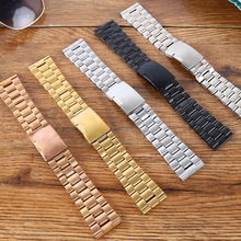 neway 16 18 20 22 24mm Silver Gold 316L Stainless Steel Curved End Wrist Watch Band Strap Replacement men metal Bracelet Belt цены