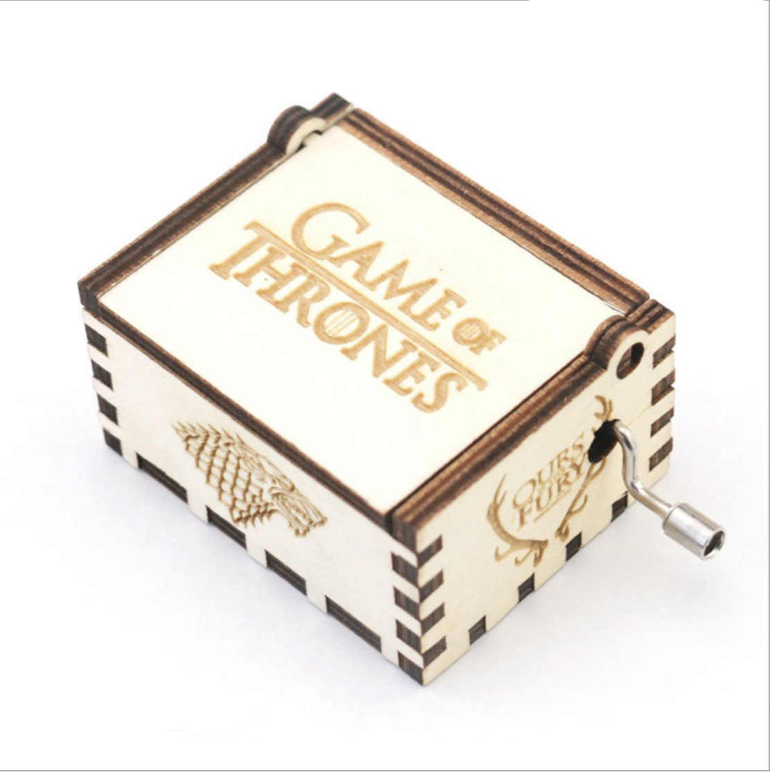 Game of Thrones Harri Potter Music Box Wooden Hand Crank Music Box Diy Christmas Gift Birthday Gift Party Casket White Box Gifts