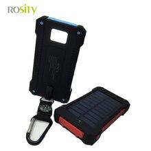 ROSITY Nuevo Portátil A Prueba de agua Solar Banco de la Energía 10000 mah Dual USB powerbank Cargador de Batería Solar para Todos Los Teléfonos