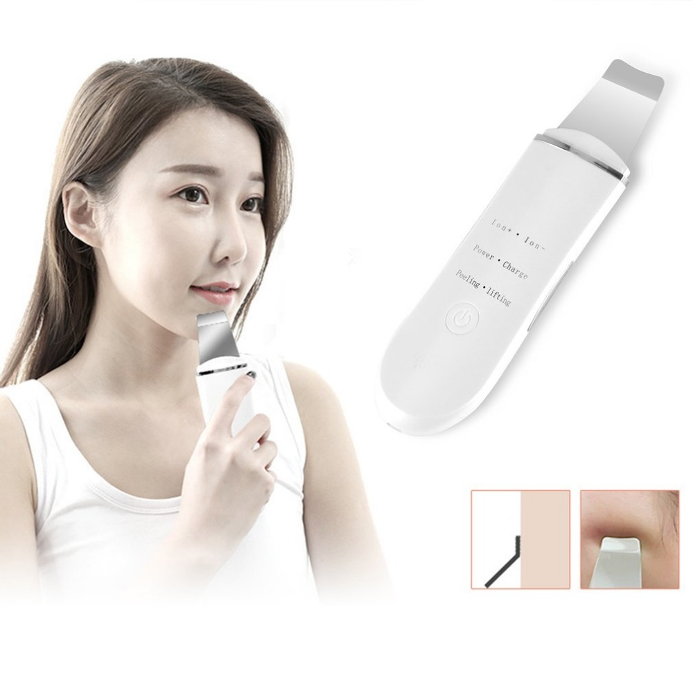 Ultrasonic Ion Facial Device Cleansing Machine Electric Beauty Instrument Dirt Remover Face Massager Refresh Face Skin Care ckeyin ultrasonic vibration beauty instrument face lift skin tightening facial deep cleansing skin care cosmetic device machine