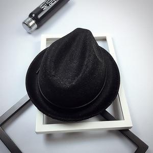 Image 5 - Fibonacci 2017 New Fedoras Fashion Wool Felt Solid Color Jazz Small Hat Men Womens Popular Vintage Fedora