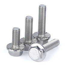 Bolts Flange M6 Screw Hexagon-Head Stainless-Steel M8 M12 M10 M5 with Thicken Tooth Anti-Slip